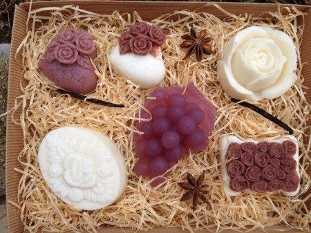 Kutija sa sapunima vanilija-čokolada