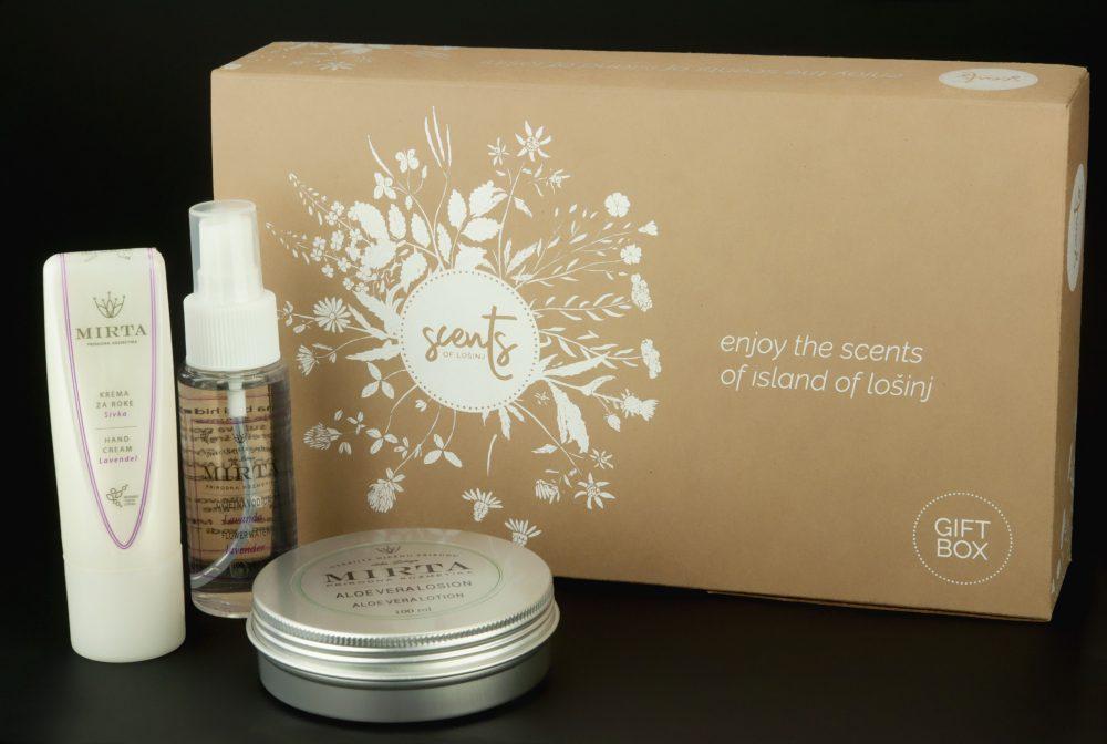 Poklon-kutija kozmetike naranča-aloe vera