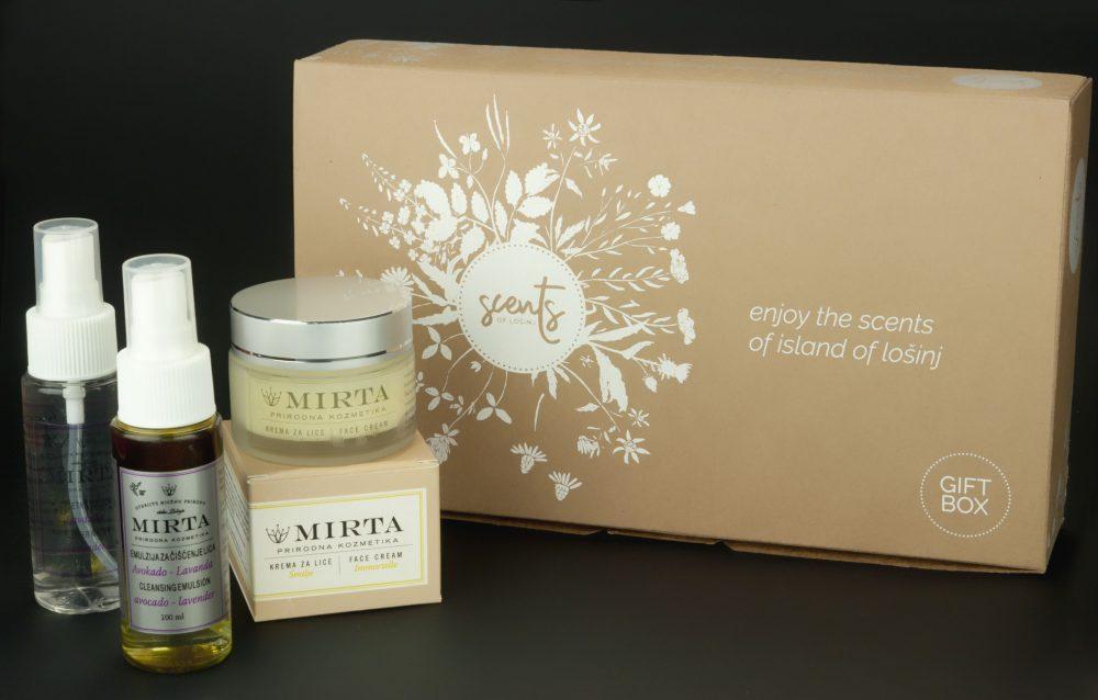 Poklon-kutija kozmetike smilje-lavanda