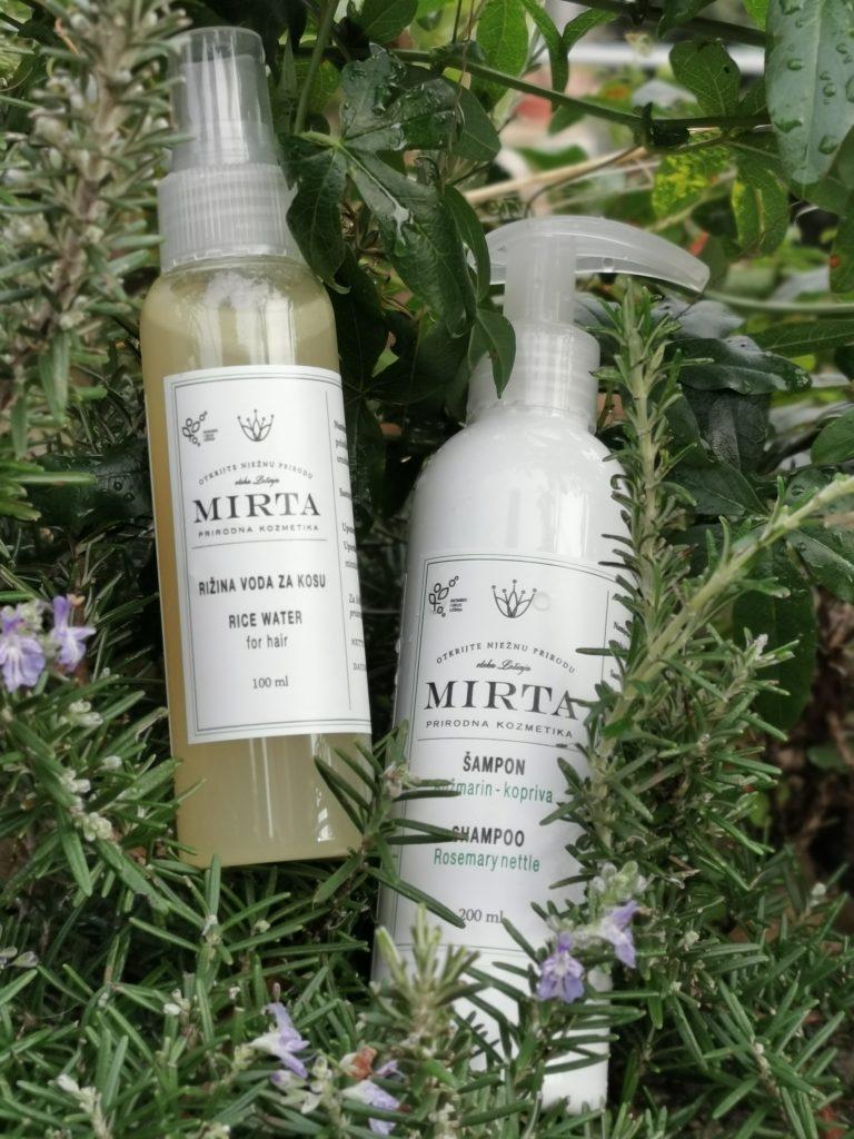 šampon ružmarin kopriva i rižina vodica za kosu